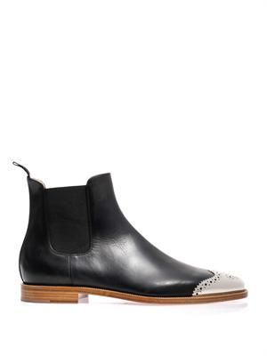 new product 5ca17 dc5c1 Jesse metal toe leather Chelsea boots | FOOTWEAR | Black ...