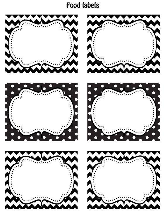 Super etiqettes deco mariage noir blanches étiquettes diy gratuites a BO-77