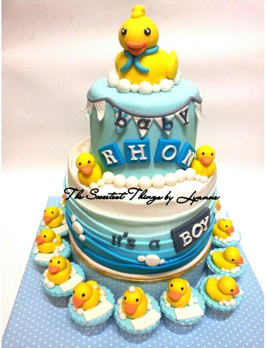 Rubber Duckie Baby Shower Cake Cakes Cake Decorating Daily