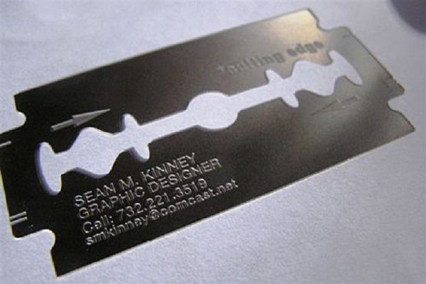 Razor Blade Business Card1 6 Most Unique Business Card Ideas for ...