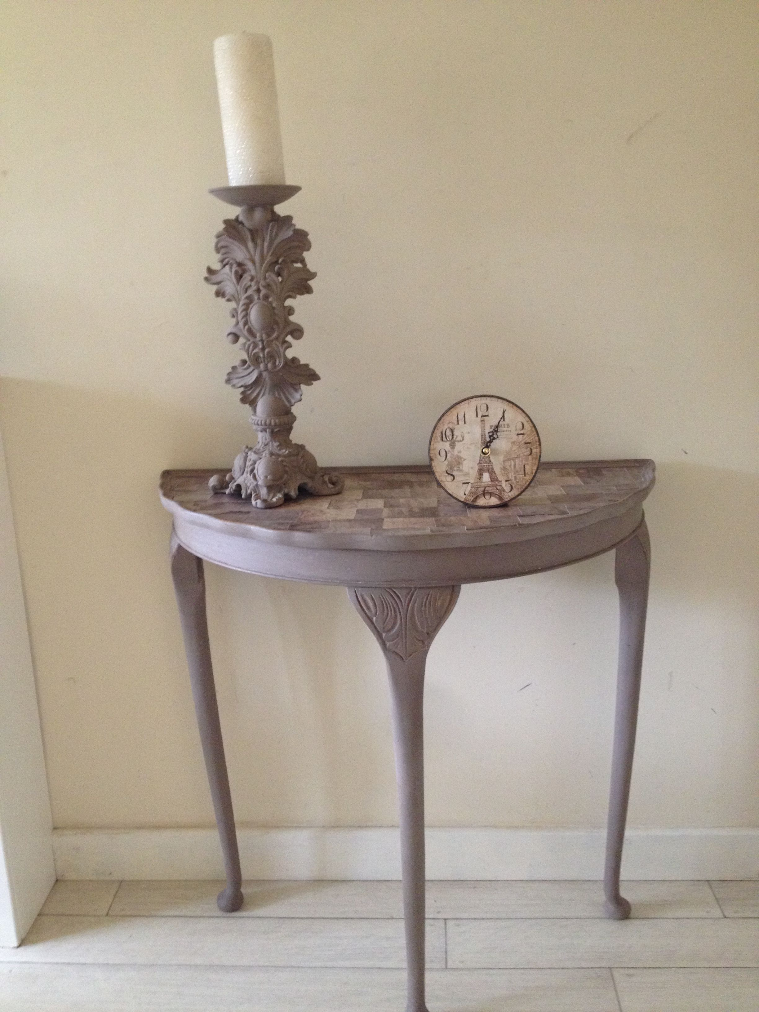 Beautiful Console Table Finished In Rustoleum Cocoa Chalk Paint, Lightly