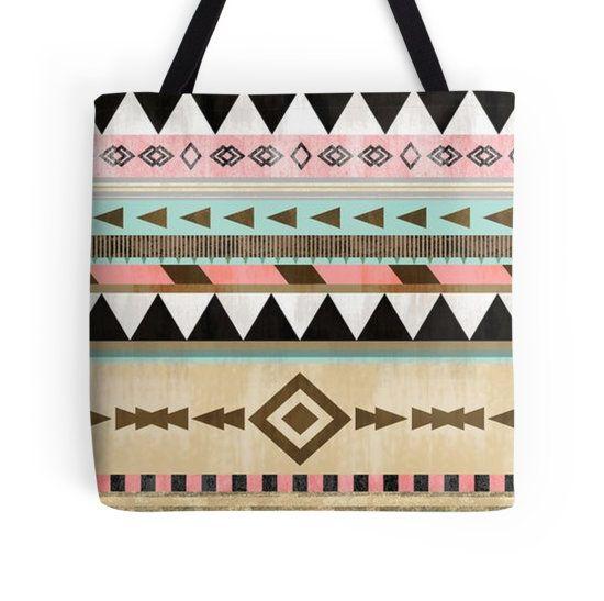$19 Tribal Pattern Tote Bag