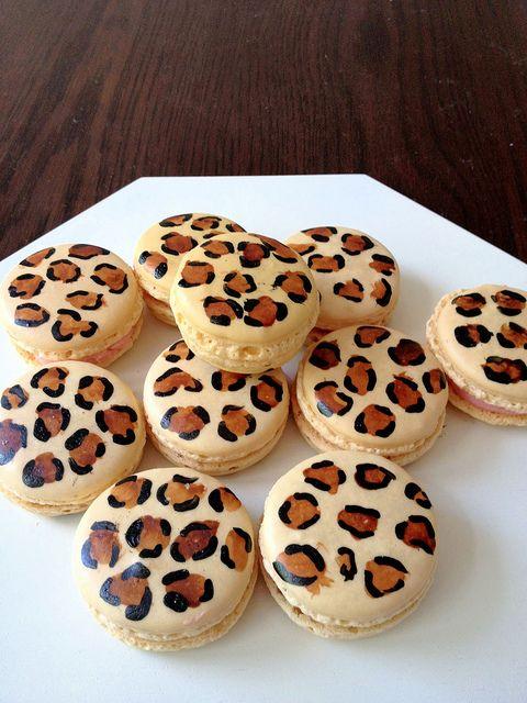 Fancy Leopard Print Macarons