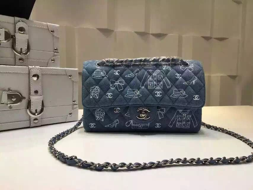 7dcb9bd14c15 Chanel Medium Denim Canvas Classic Flap Bag My style