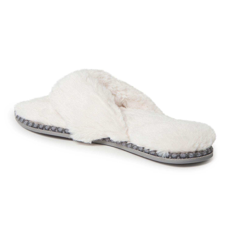 df69dcffb2cd Women s Dearfoams Faux Fur Thong Slippers  Faux