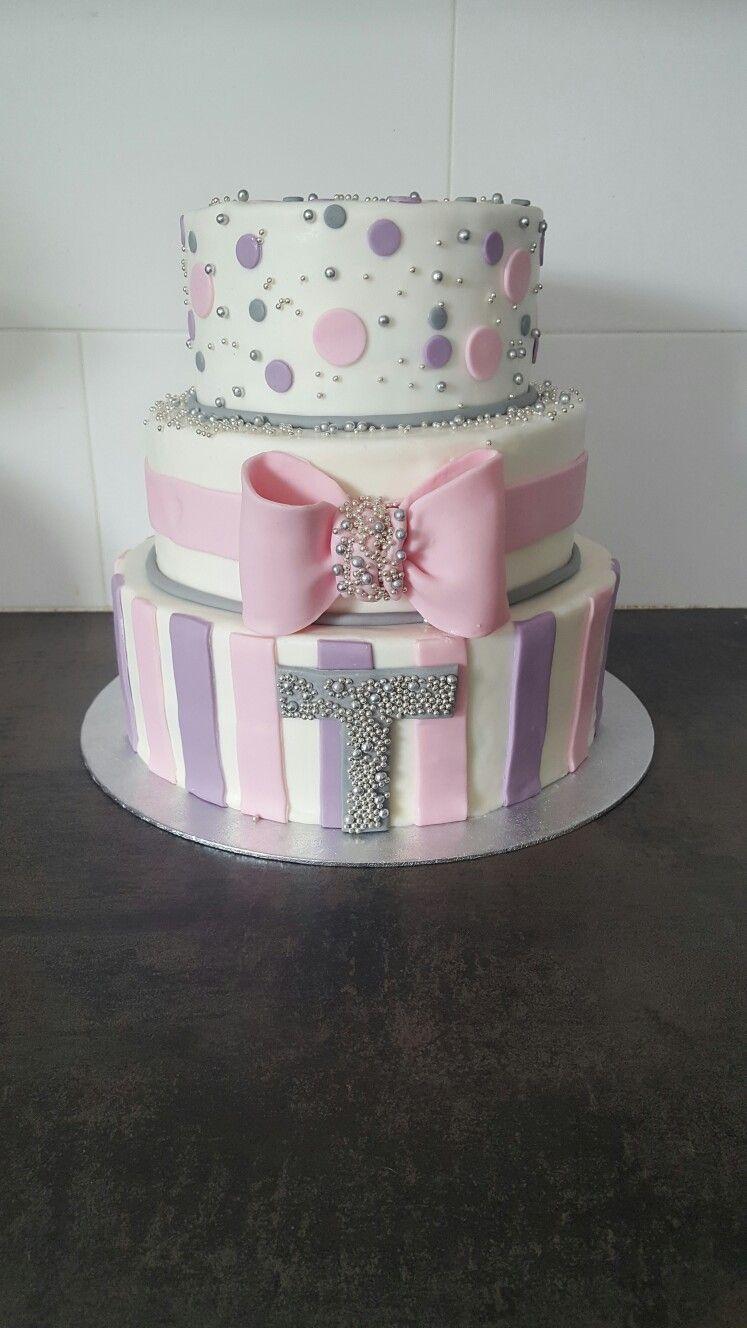 Pink purple cake