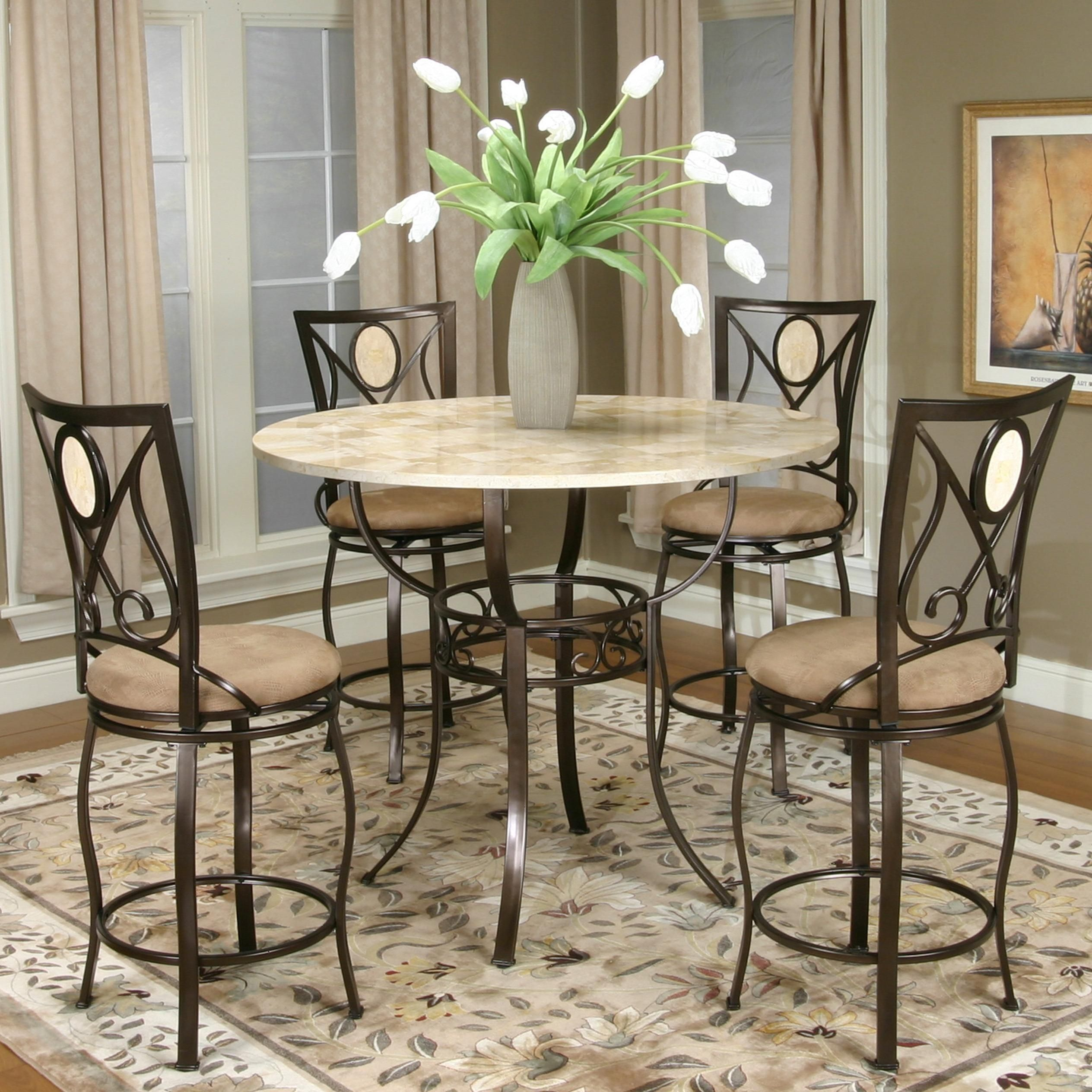 Cramco Trading Company Nadia Five Piece Pub Table Set By