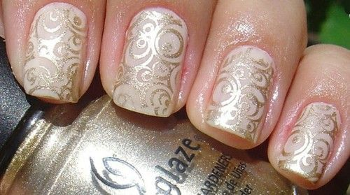 China Glaze Gold.