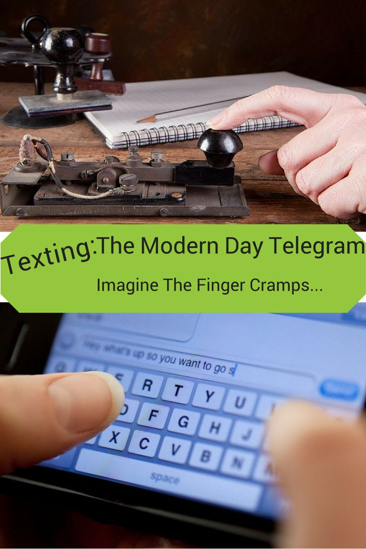 Texting, The Modern Day Telegram | Simple Solutions | Texts, Modern