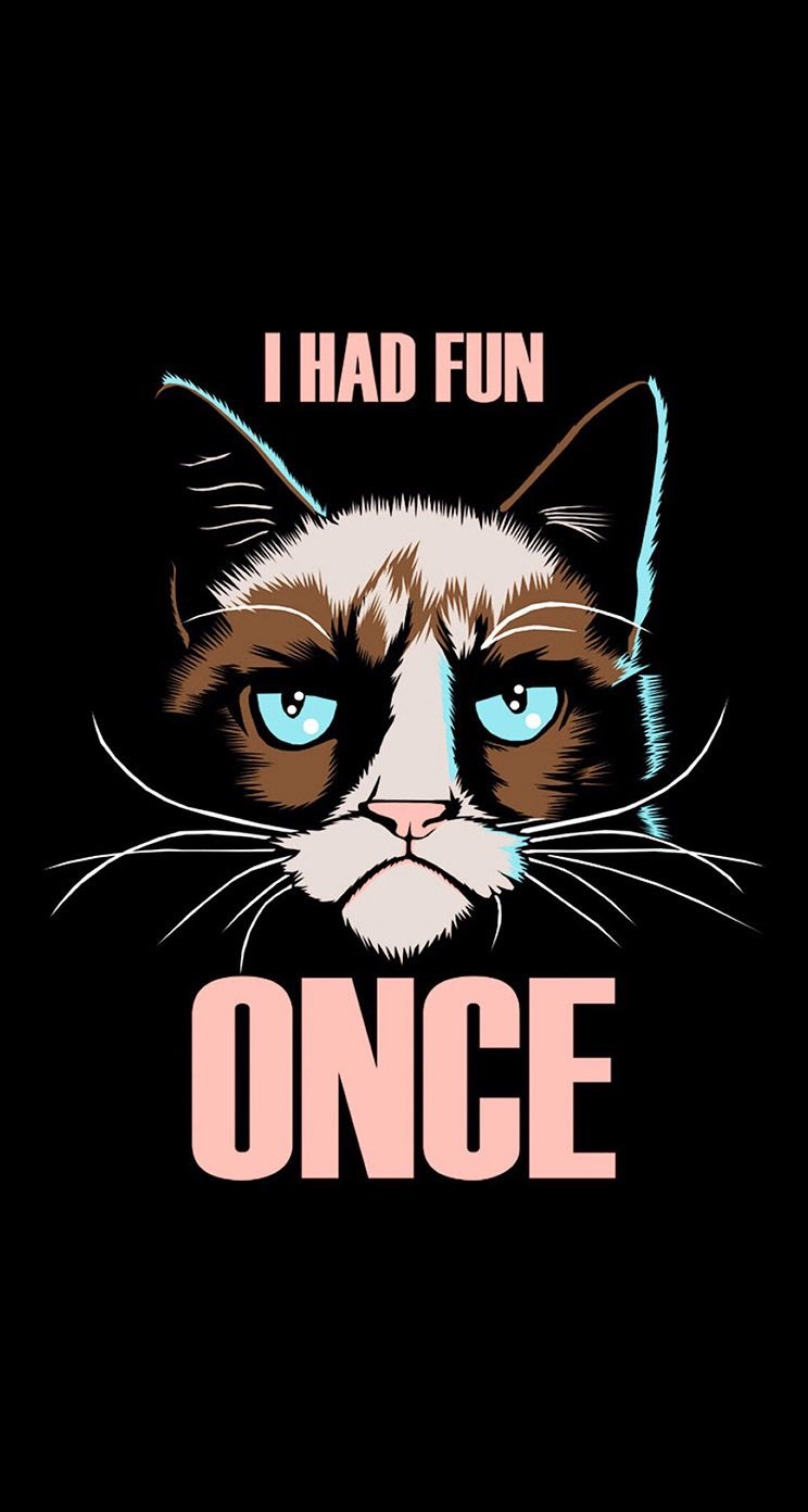 Grumpy Cat Quotes Funny Background Wallpaper Hd Iphone Sony