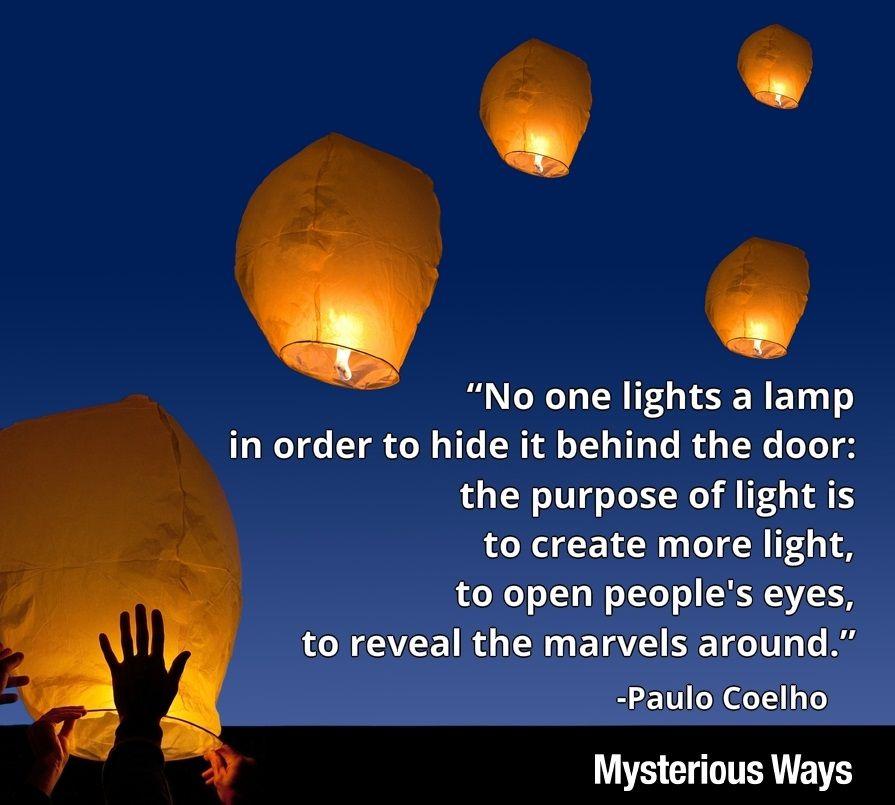 Paulocoelho Light Wonder Marvels Lamp Inspiration Quotes