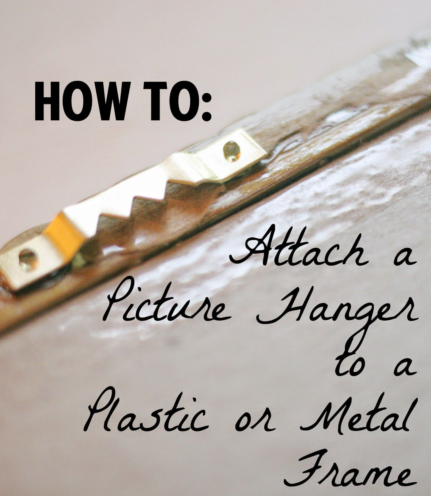 How To Attach A Hanger To A Plastic Frame Plastic Picture Frames Picture Hangers Picture Frame Hangers