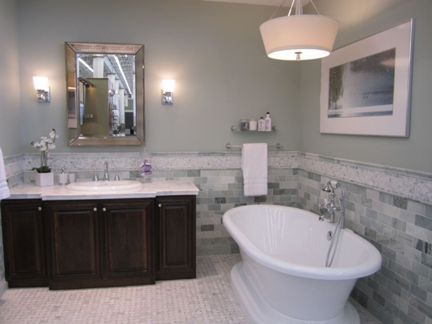 Bathroom Wall Colors With Marble Wall Paint And
