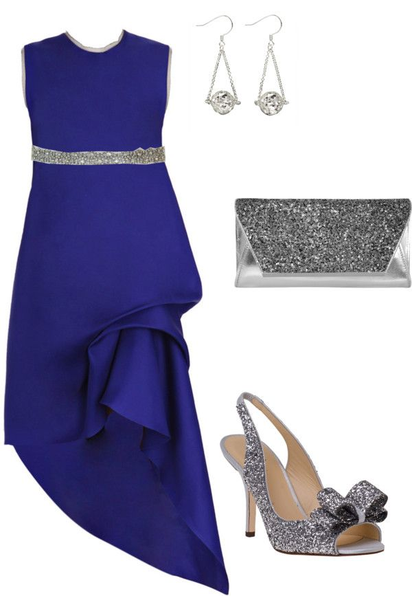"""Blue elegance"" by wittymom on Polyvore....  Can someone invite me some place fancy just so I can wear this? Please?"