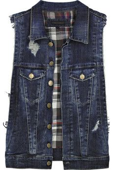 DIY Time: Turn Your Old Jean Jacket Into A Chic New Vest | Vests ...