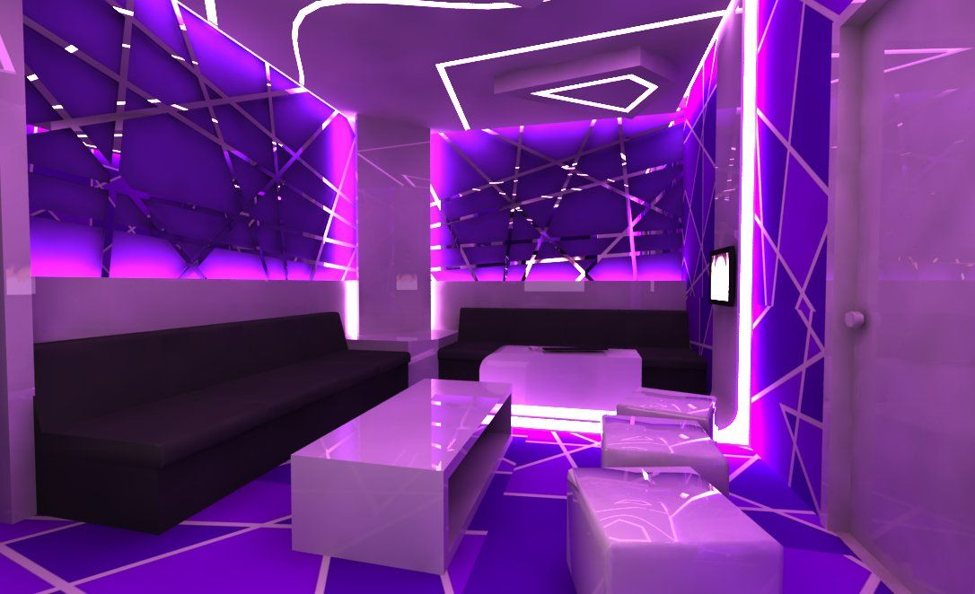 kARAOKE ROOM | Karaoke Room Design in Violet | 2018 Interior