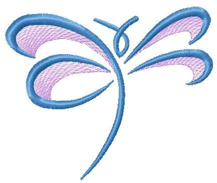 Blue dragonfly free embroidery design. Machine embroidery design ...