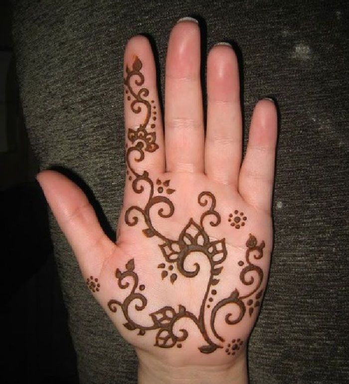 Easy and simple henna designs for palms - Mehendi designs ... |Simple Henna Palm Designs