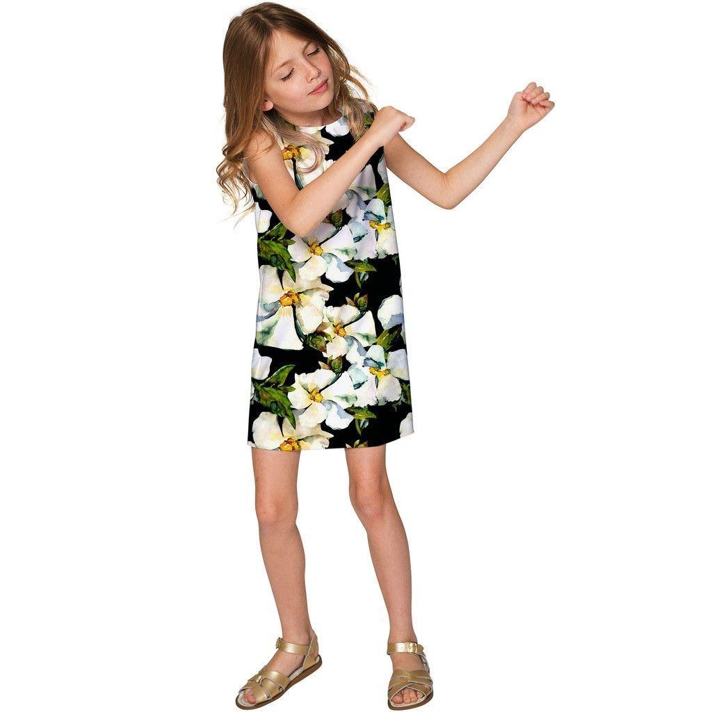 Date Night Adele Elegant Floral Party Shift Dress - Girls ...
