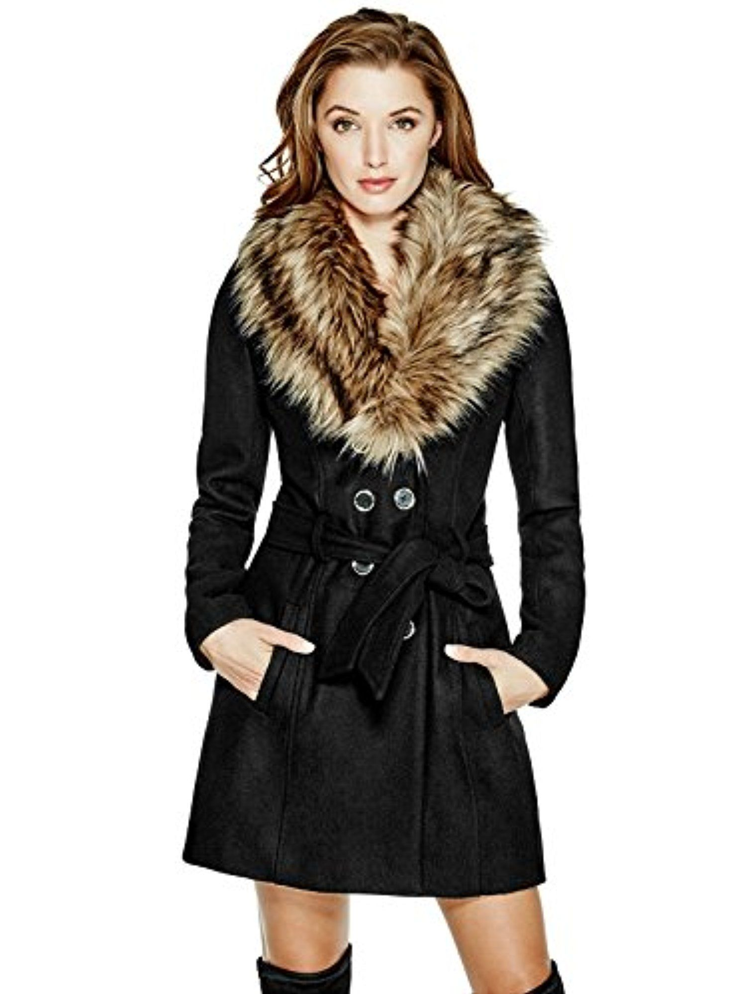 e1c88677d43 GUESS Alina Double-Breasted Coat -- Awesome products selected by Anna  Churchill