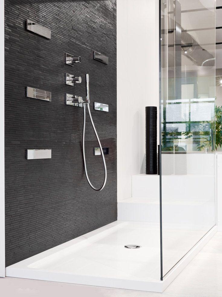 Teuco shower tray,#Mutina mosaic Ono,#Fantini shower system ...