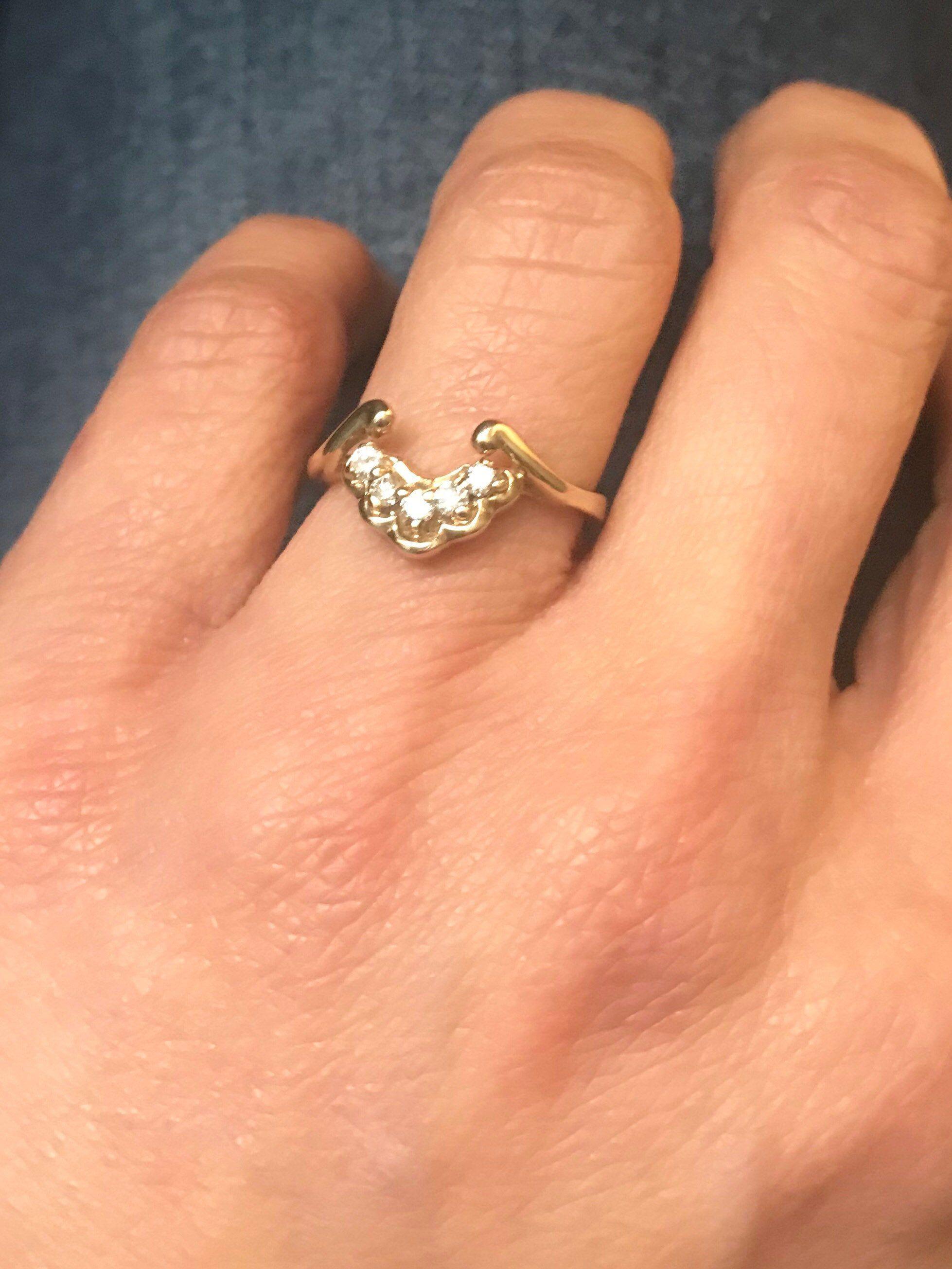 Diamond Wedding Jacket, Size 7 Engagement Ring Enhancer