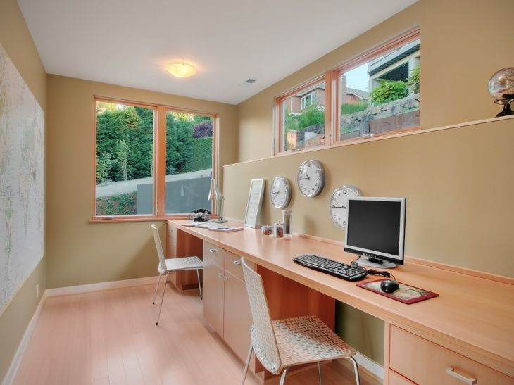 Work Happily With These 50 Home Office Designs    For Men Organization Ideas  Decoration Design For Two Small Desk Work From Guest Room Library Rustic  Modern ...