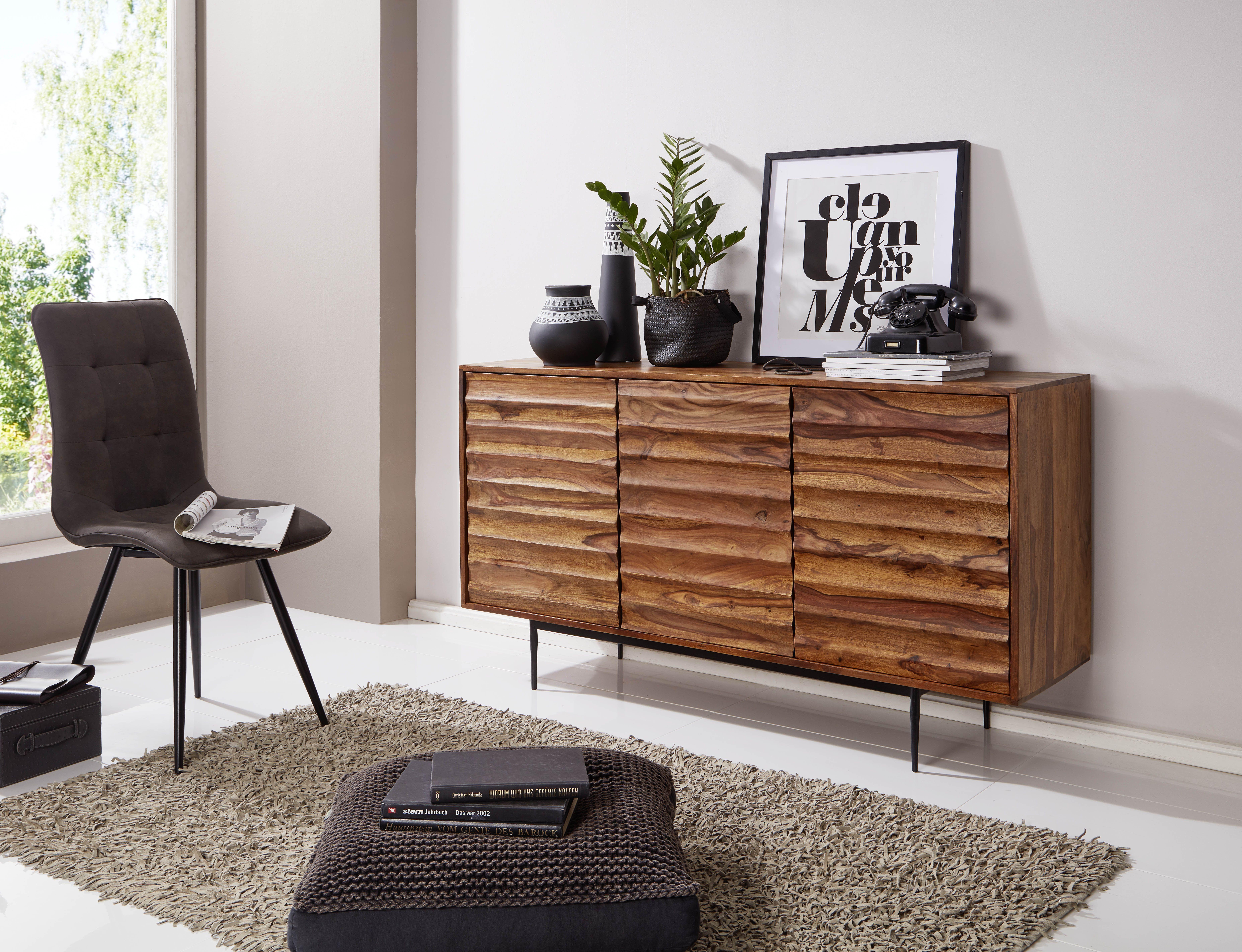 Schones Sideboard Aus Sheesham Massivholz Kommode Design Sideboard Tur Holz