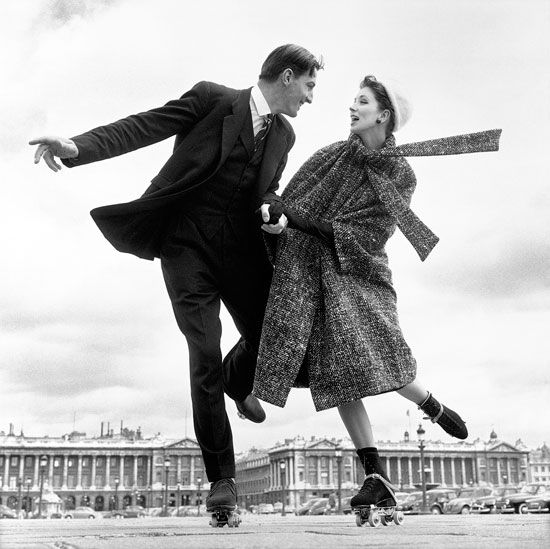 Richard Avedon (1923-2004), Suzy Parker with Robin Tattersall, Dress by Dior, Place de la Concorde, Paris, 1956.