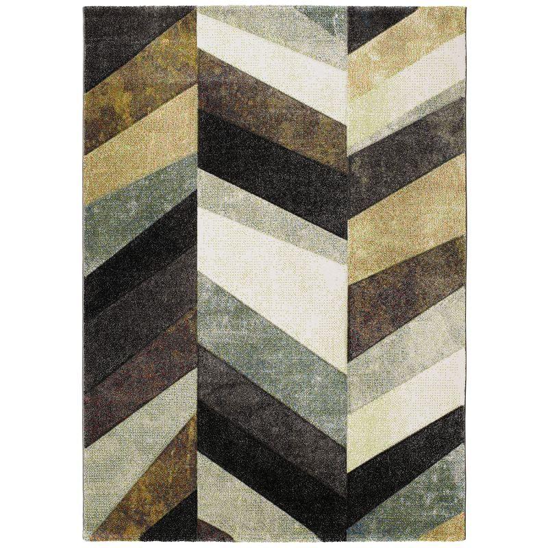Alfombra de espiga bianca 21058 de estilo moderno con for Alfombras motivos geometricos