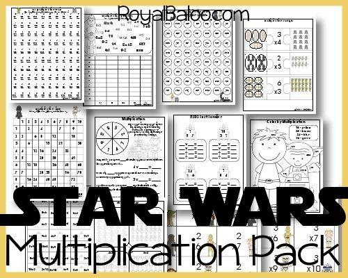 star wars multiplication printables for hands on math math ideas multiplication homeschool. Black Bedroom Furniture Sets. Home Design Ideas