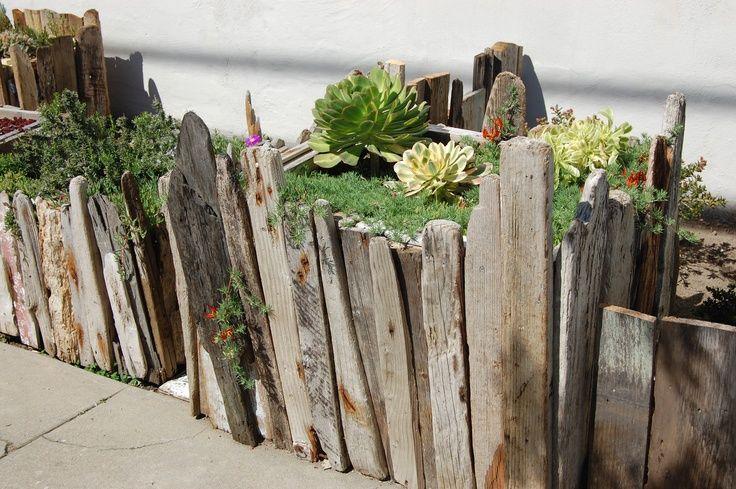 Use For Old Wood Garden Edging Seaside Garden Garden In The Woods