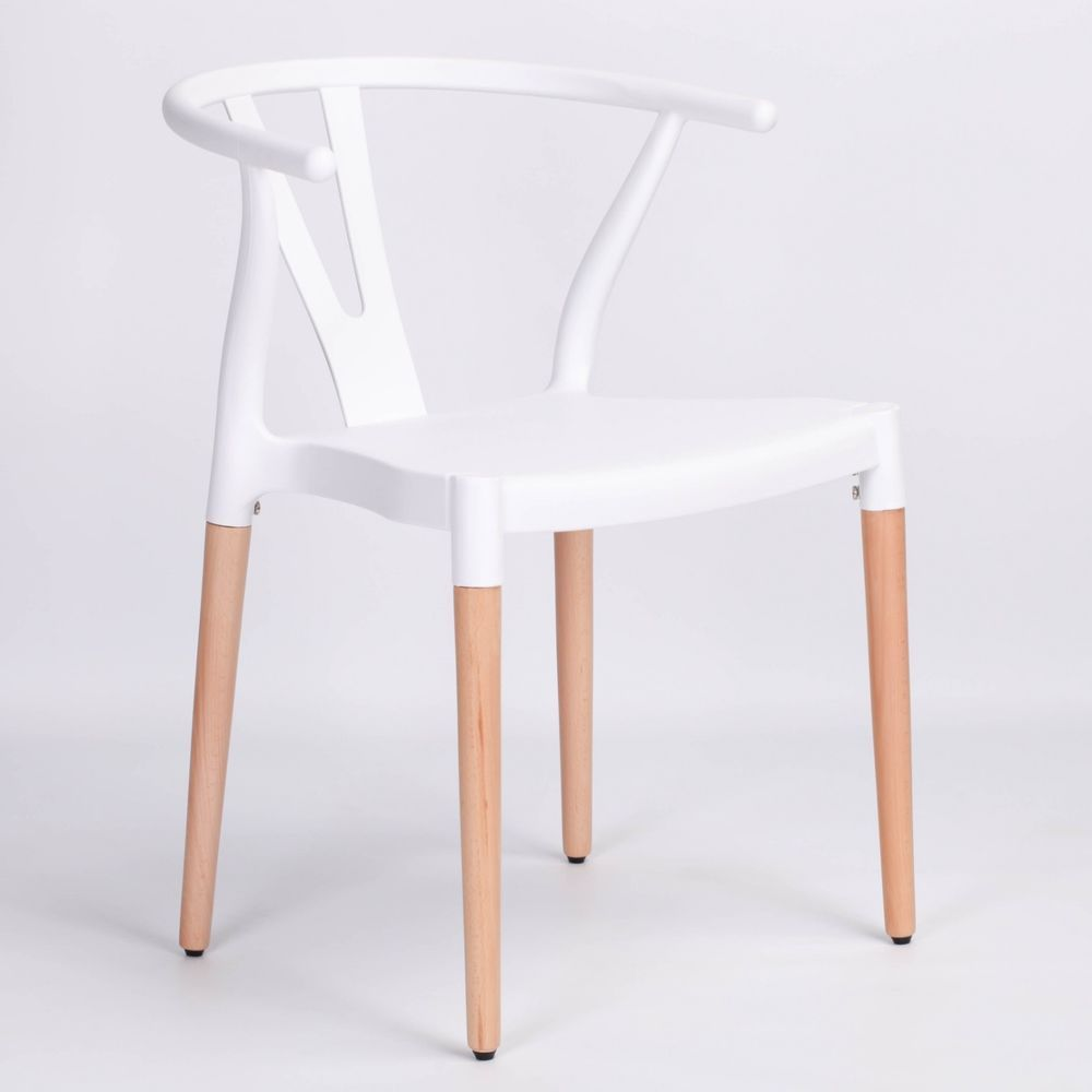 Phenomenal White Wishbone Scandinavian Lounge Modern Plastic Dining Bralicious Painted Fabric Chair Ideas Braliciousco
