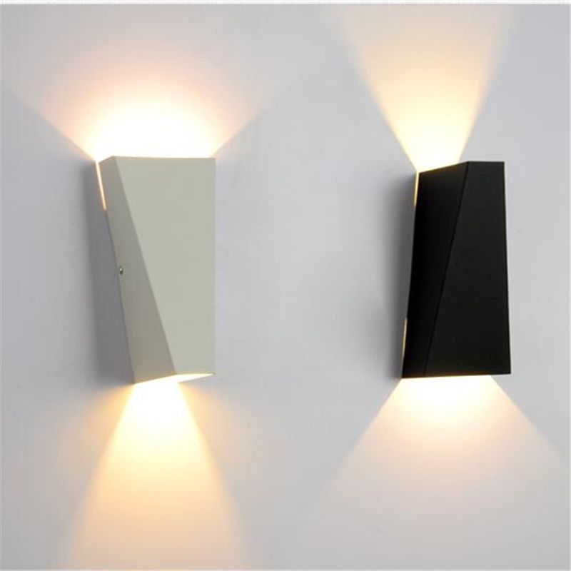 White Black Nordic Wall Lamp Bathroom Mirror Light Fixtures