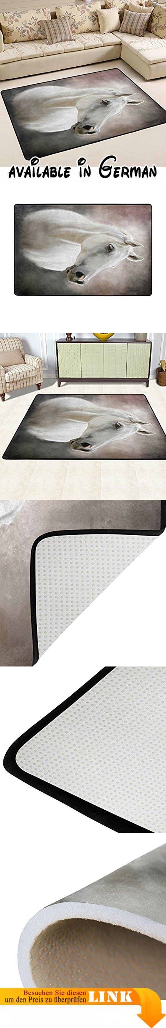 Woor Super Bequem Anti Rutsch Weiß Pferd Bereich Teppiche/Boden Matte/Bezug  Teppiche Mit Kleine Menge Speicher Schaumstoff Für Wohnzimmer/Schlafzimu2026