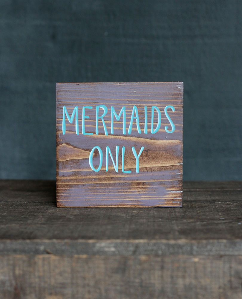 Details About Mermaids Only Wood Sign Rustic Beach Tiered Tray Decor 4 Inch Custom Painted Beach Signs Beach Signs Wooden Hand Painted Wood Sign