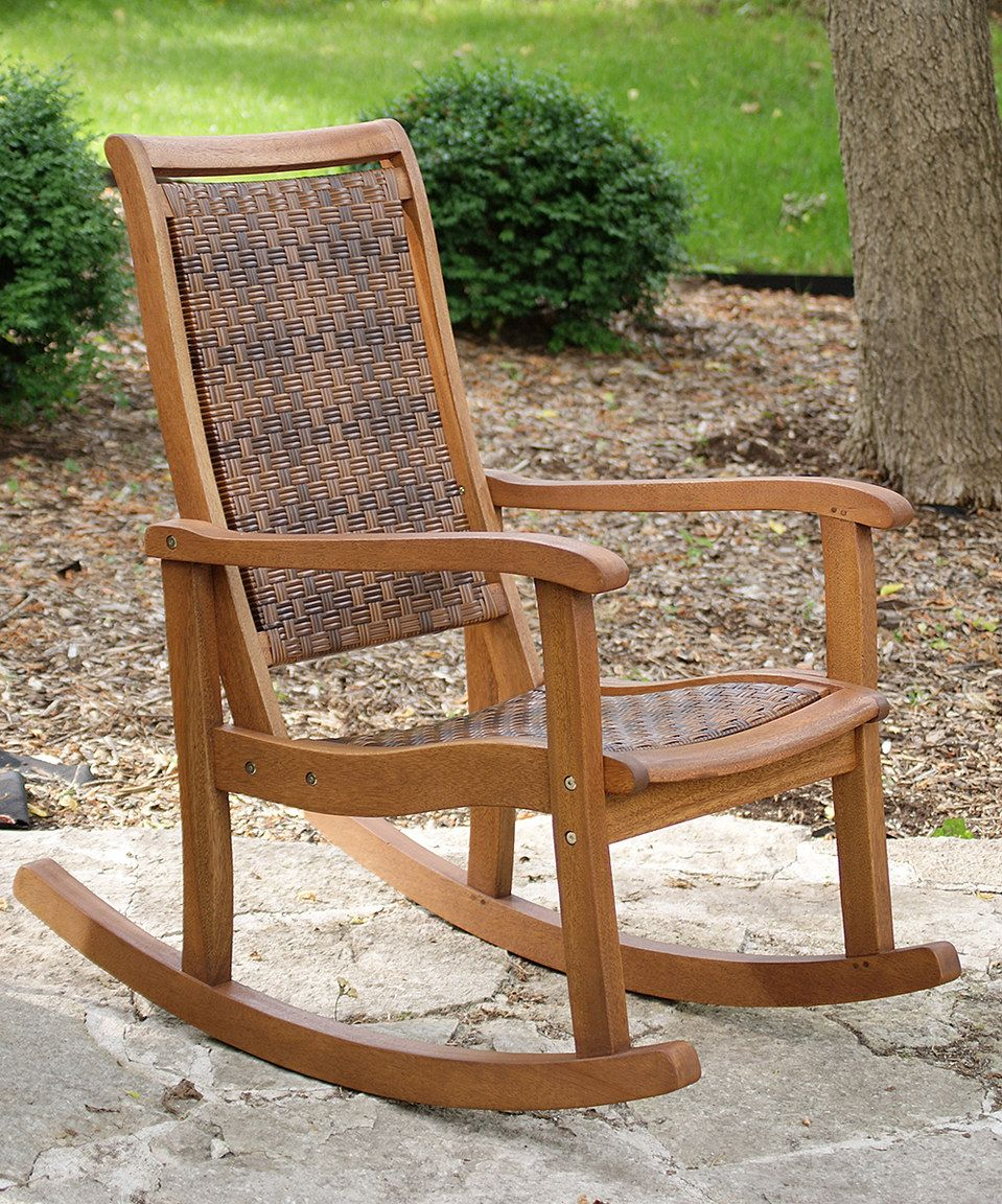 Look what I found on #zulily! Eucalyptus Rocking Chair by Outdoor ...
