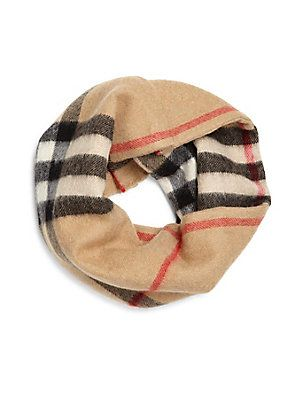 5fdeabc1d7b Burberry Kid s Exploded Check Cashmere Snood - Classic Check - Size ...
