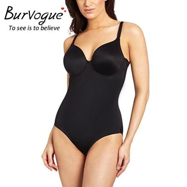 Burvogue Brand Womens Body Shaper Seamless Bodysuit Waist Cincher Plus Sizes