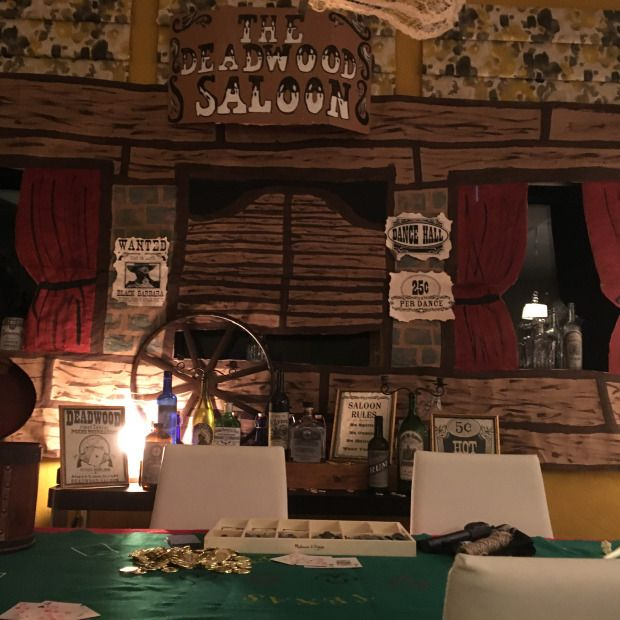 Murder at the deadwood saloon mystery dinner diy western for Secret dinner party