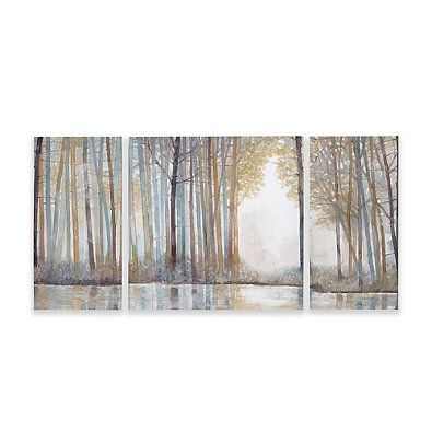 Madison Park Forest Reflections Gel Coated Canvas Wall Art (Set of 3 ...