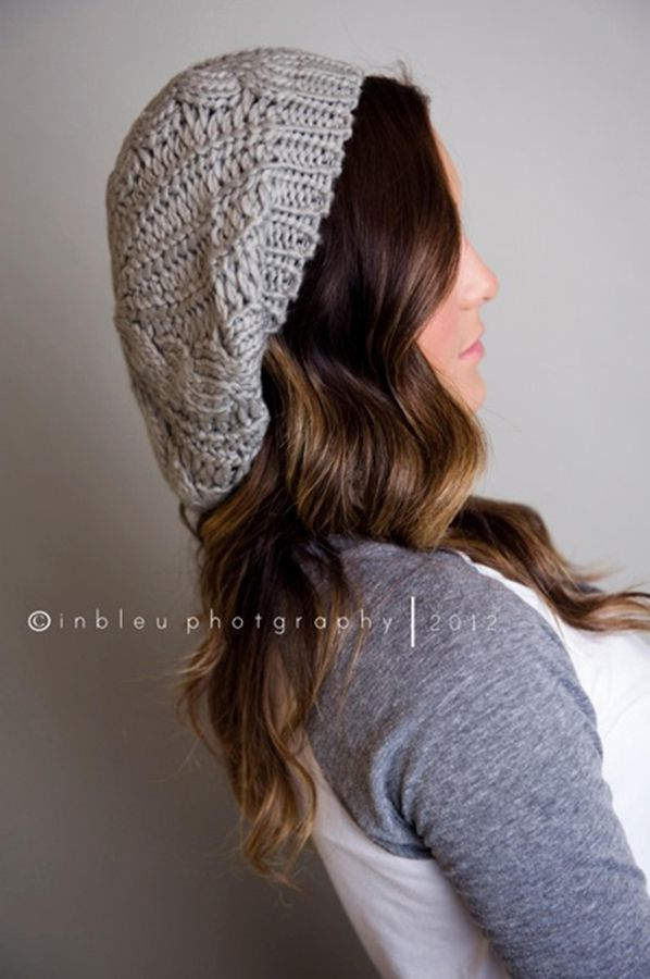 Women's Knitted Slouch Beanie - 4 Colors to Choose From at VeryJane.com
