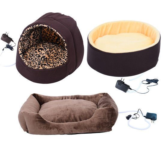 New Electric Heated Pet Bed Dog Cat Puppy Kitty Heating Nesting