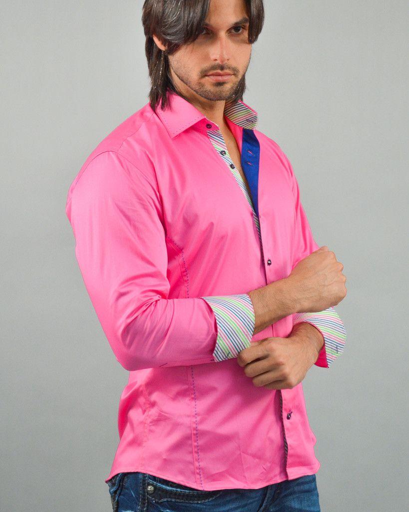 Shirt design of 2014 - Italian Shirt Cesena Fushia Via Uomo Collection 2014