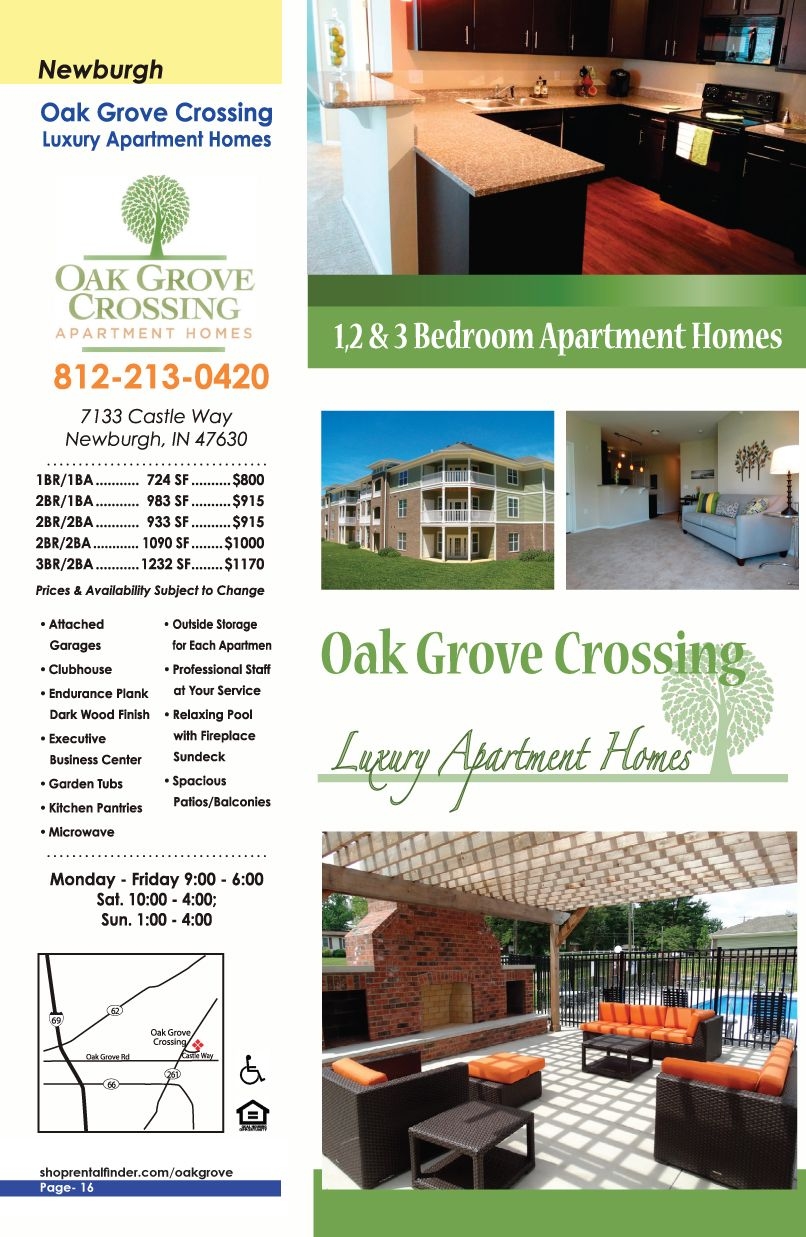 Oak Grove Crossings Luxury Apartment Homes In Newburgh In Call