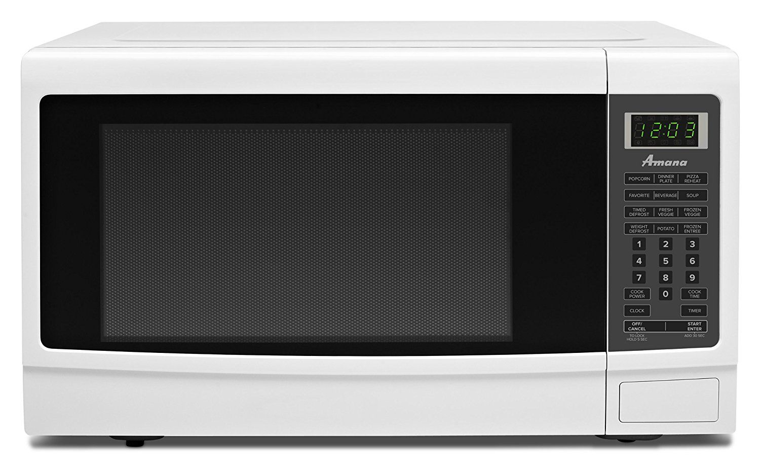 Amana 1 6 Cu Ft Countertop Microwave Oven Amc2165aw White