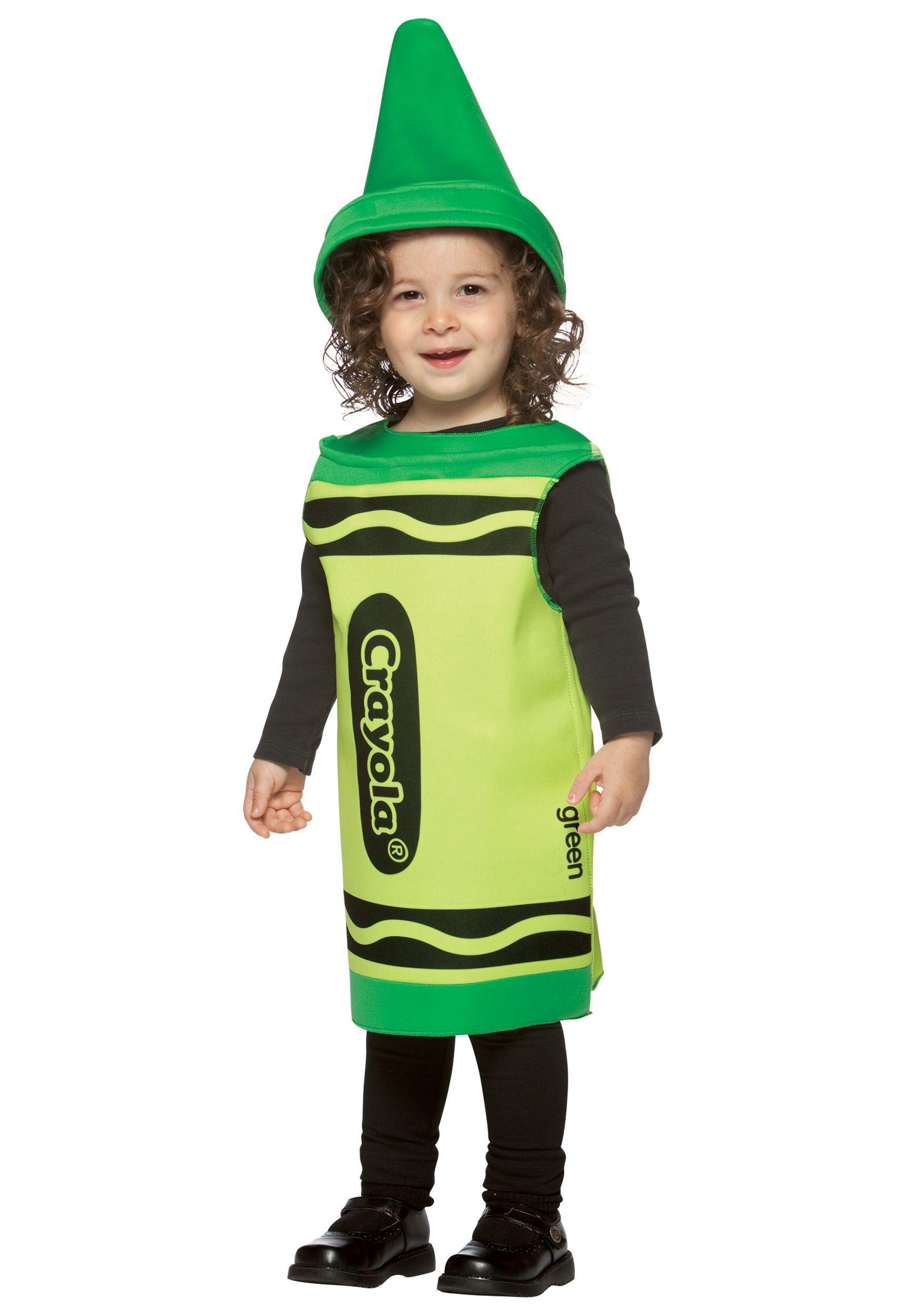 Toddler Green Crayon Costume Crayon costume, Toddler