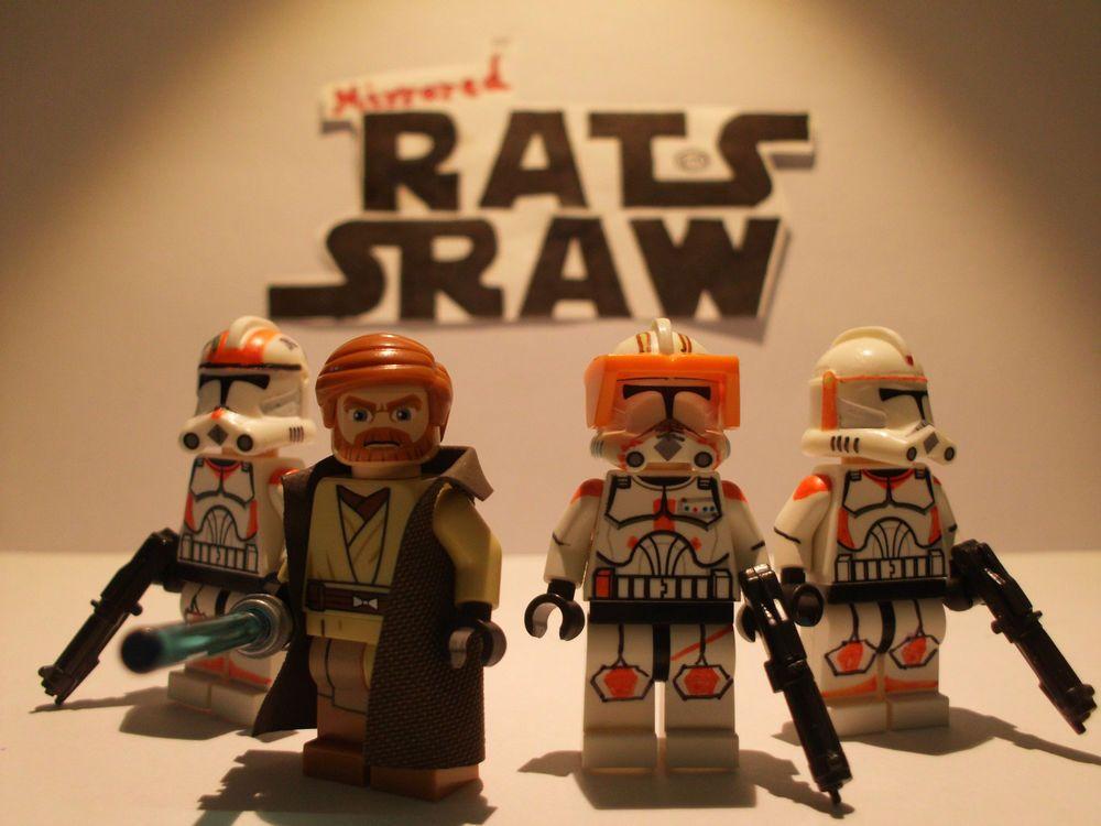 Lego Star Wars minifigures - Clone Custom Troopers - Obi Wan ...