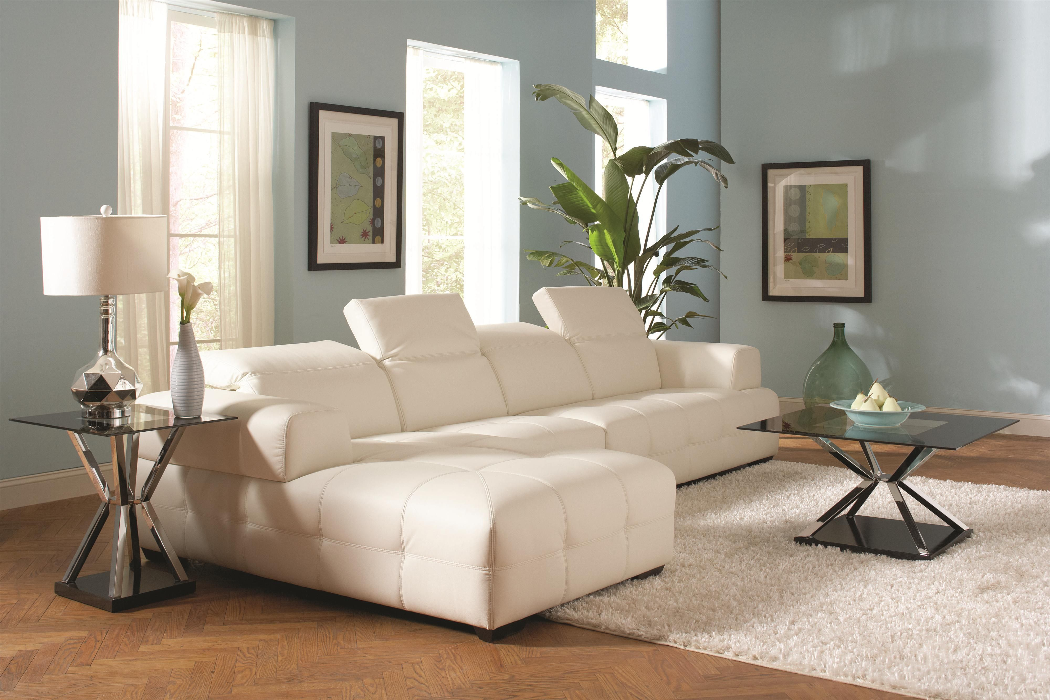 Darby Stationary Living Room Group by Coaster #leather #cozy #modern ...