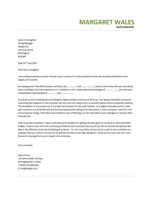 sales cover letter  Google Search  landscape architecture  Pinterest  Covering Cv example